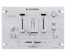 PHONIC MX202 Mixer Dj 2 Kanal Talkover