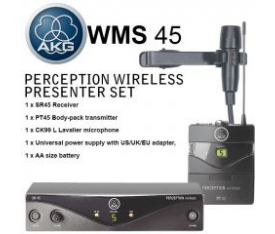 AKG WMS45 PERCEPTION YAKA TİPİ TELSİZ MİKROFON