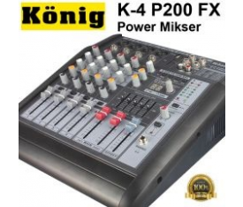 KÖNIG K-4P200 4 Kanal Power Mixer 170W RMS