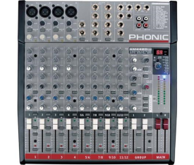 PHONIC AM442D Usb 4Mic.4 Line 2 Gr. Deck Mixer