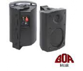 "PROSOUND 4""LF 3/4""HF 2 WAY WALL SPEAKER BLACK"