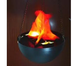 SILVER YX-351 HANGING FIRE LIGHT ALEV